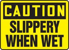 - OSHA Caution Safety Sign: Slippery When Wet
