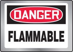 - OSHA Danger Stainless Steel Sign: Flammable