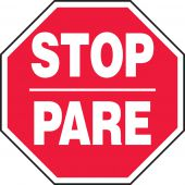 - Bilingual Safety Sign: Stop