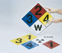 - Blank NFPA Placard Kits With Magnetic Hazard Panels