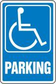 - Safety Sign: (Handicap Symbol) Parking