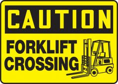 - OSHA Caution Safety Sign: Forklift Crossing