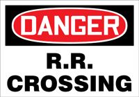 - OSHA Danger Safety Sign: R.R. Crossing