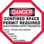 - OSHA Danger Manhole Warning Barrier™: Confined Space - Permit Required