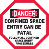 - OSHA Danger Manhole Warning Barrier™: Confined Space - Entry Can Be Fatal