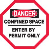- OSHA Danger Manhole Warning Barrier™: Confined Space - Enter By Permit Only