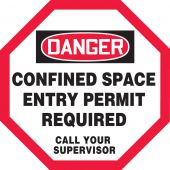 - OSHA Danger Manhole Warning Barrier™: Confined Space - Entry Permit Required