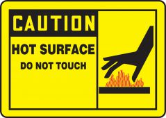 - OSHA Caution Safety Sign: Hot Surface - Do Not Touch