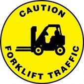 - Slip-Gard™ Floor Sign: Caution - Forklift Traffic (Graphic)