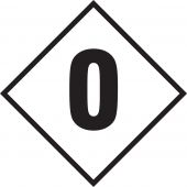 - NFPA Placard: Individual Hazard Panels - Numbers for 4