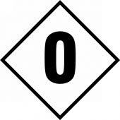 - NFPA Placard: Individual Hazard Panels, Numbers for 24