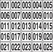 - Sequential Number Markers