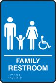 - ADA Braille Tactile Sign: Handicap Accessible Family Restroom
