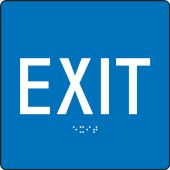 - ADA Braille Tactile Sign: Exit