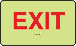- Lumi-Glow™ Braille Sign: Exit