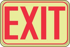 - Glow-In-The-Dark Safety Sign: Exit