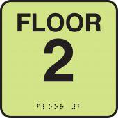 - Lumi-Glow™ Custom Floor Level Braille Signs