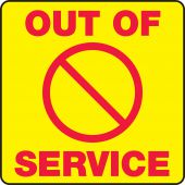 - Sign Holder Labels: Out Of Service