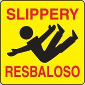 - Bilingual Sign Holder Labels: Slippery- Resbaloso