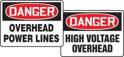 - OSHA Danger Lightweight Sign Inserts: Overhead Power Lines/ High Voltage Overhead