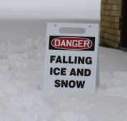 - OSHA Danger Fold-Ups® Floor Sign: Falling Ice And Snow