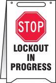 - Fold-Ups® Safety Sign: LOCKOUT IN PROGRESS