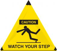 - OSHA Caution Handy Cone™ Floor Signs: Watch Your Step
