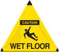 - OSHA Caution Handy Cone™ Floor Signs: Wet Floors