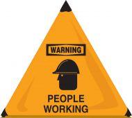 - OSHA Warning Handy Cone™ Floor Signs: People Working