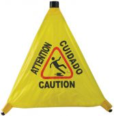 - Multilingual OSHA Pop-Out Warning Cone: Caution