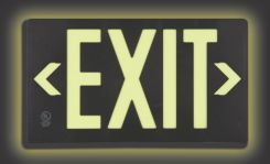 - Ultra-Glow™ Safety Sign: Exit (Plastic Case)