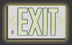 - Ultra-Glow™ Exit Sign: Plastic Case Style