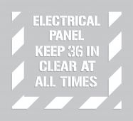 - Floor Marking Stencil: Electrical Panel - Keep 36 In Clear At All Times