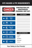 - Site Hazard & PPE Requirements Sign