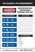 - Semi-Custom Site Hazard & PPE Requirements Sign