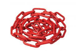 - Red Powder-Coated Steel Chain