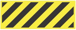 - Blockade X-Barricade Changeable Message: (Black On Yellow Stripes)
