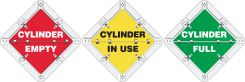 - Status Alert Flip-Plac™ Sign: Cylinder Empty/Cylinder In Use/Cylinder Full