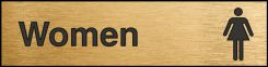 - Engraved Accu-Ply™ Sign: Women (Restroom)