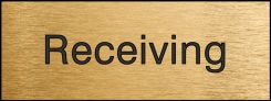 - Engraved Accu-Ply™ Sign: Receiving