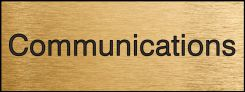 - Engraved Accu-Ply™ Sign: Communications