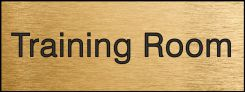 - Engraved Accu-Ply™ Sign: Training Room