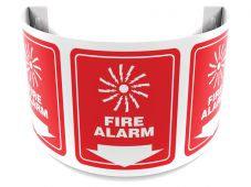 - 180D Projection™ Safety Sign: Fire Alarm (Graphic And Down Arrow)