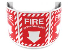 - 180D Projection™ Safety Sign: Fire Extinguisher