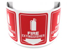 - 180D Projection™ Sign: Fire Extinguisher