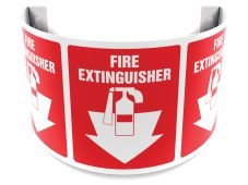- 180D Projection Sign: Fire Extinguisher