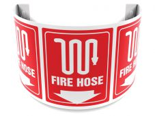 - 180D Projection™ Safety Sign: Fire Hose