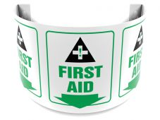 - 180D Projection™ Safety Sign: First Aid