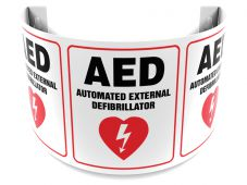 - 180D Projection™ Sign: AED Automated External Defibrillator