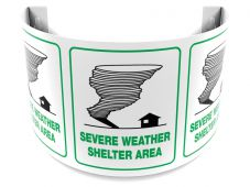- 180D Projection™ Sign: Severe Weather Shelter Area